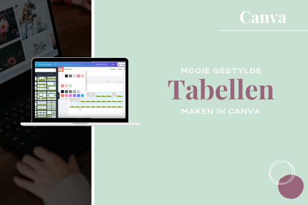 Canva Tabel maken tutorial